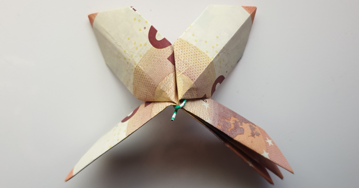 Fold fiore da trè banconi - passu 13