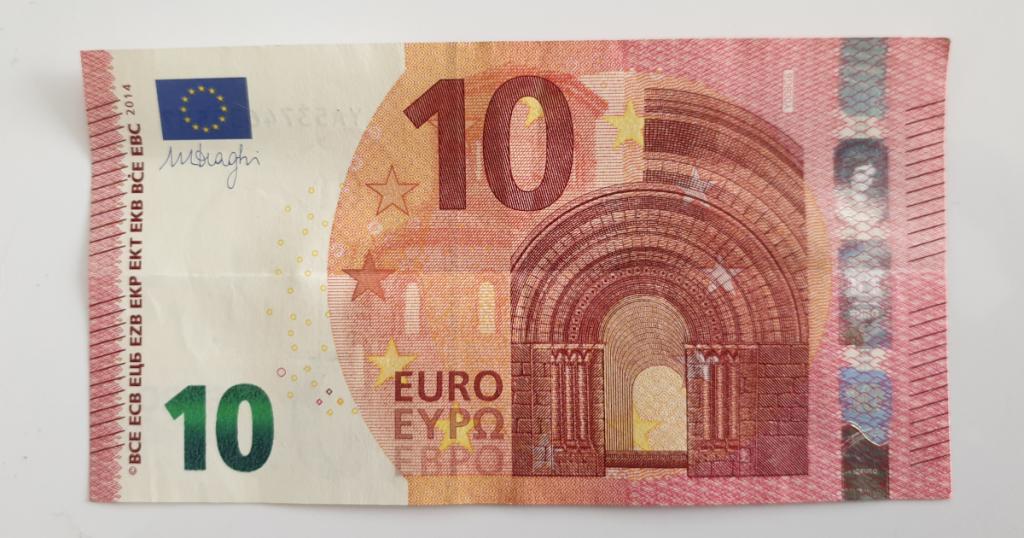 Kukkuva tähe voltimine pangatähtedelt - 3. samm